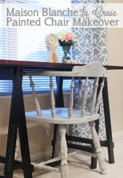 Maison Blanche Chalk Paint Desk Chair  How to Nest for Less