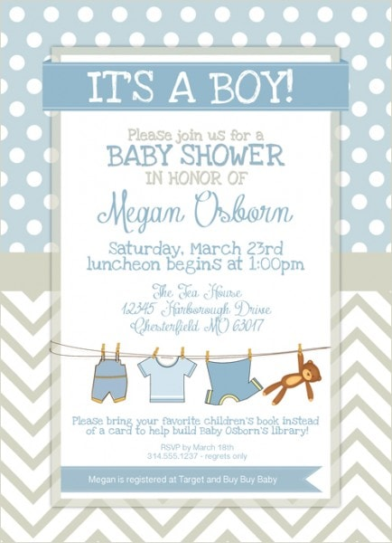 Baby Boy Shower Card Printable : shower, printable, Shower, Printables, Less™