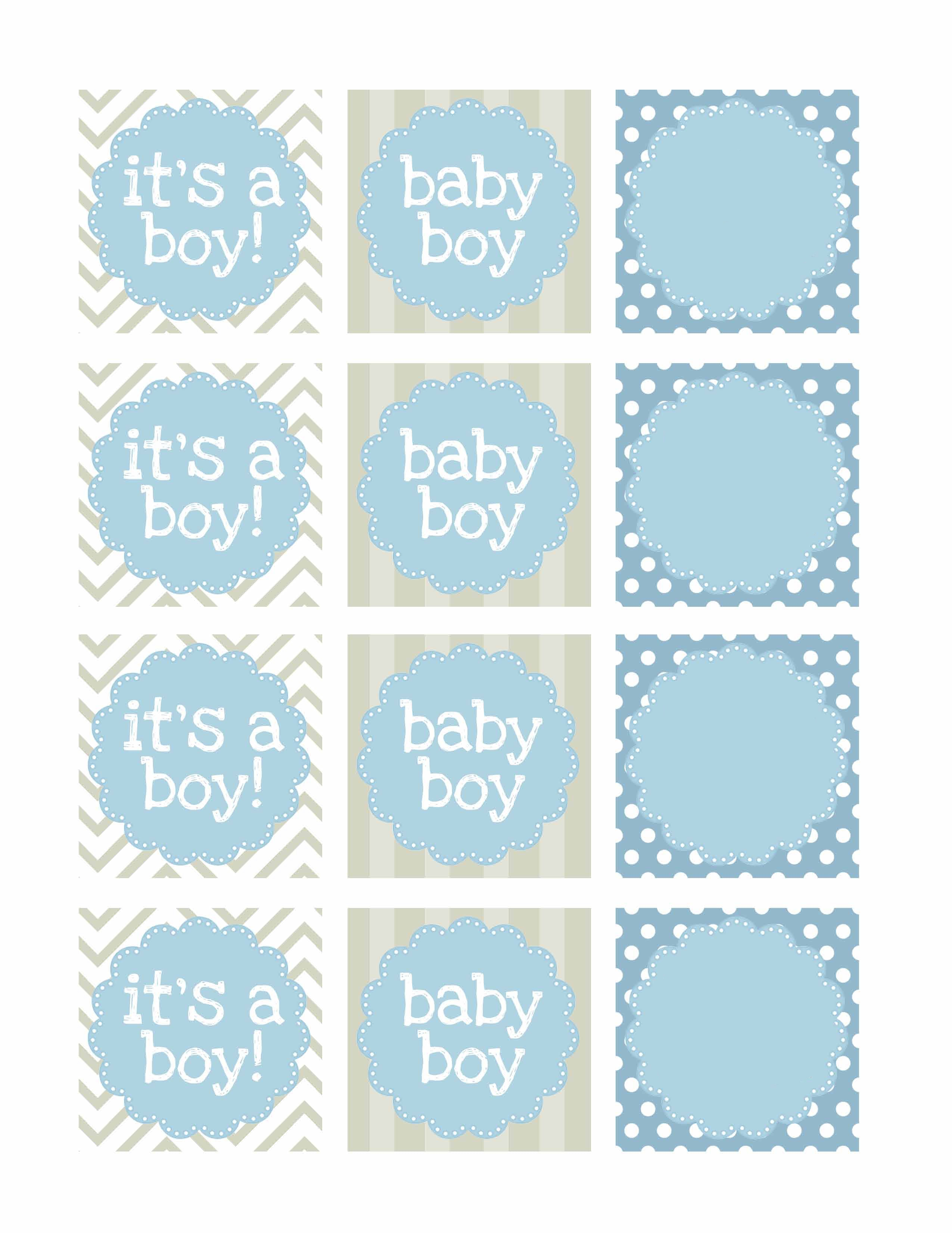 Boy Baby Shower Free Printables