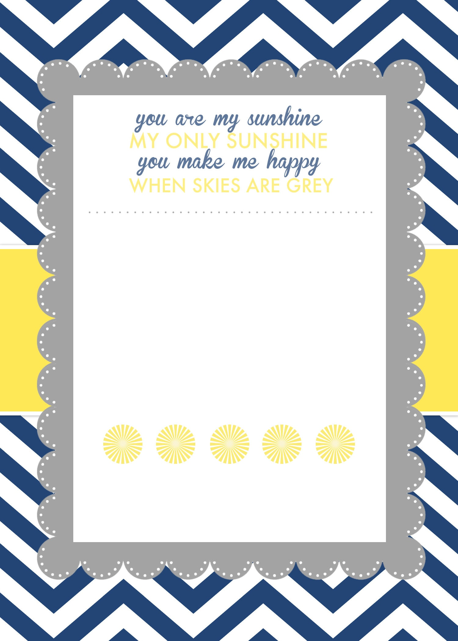 You Are My Sunshine Baby Shower Printables
