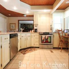 Kitchen Cabinet Makeovers Aid Mixer Colors Mom S Makeover How To Nest For Less Yellow Before White