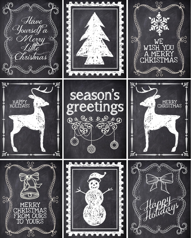 Christmas Chalkboard Labels Free Printable