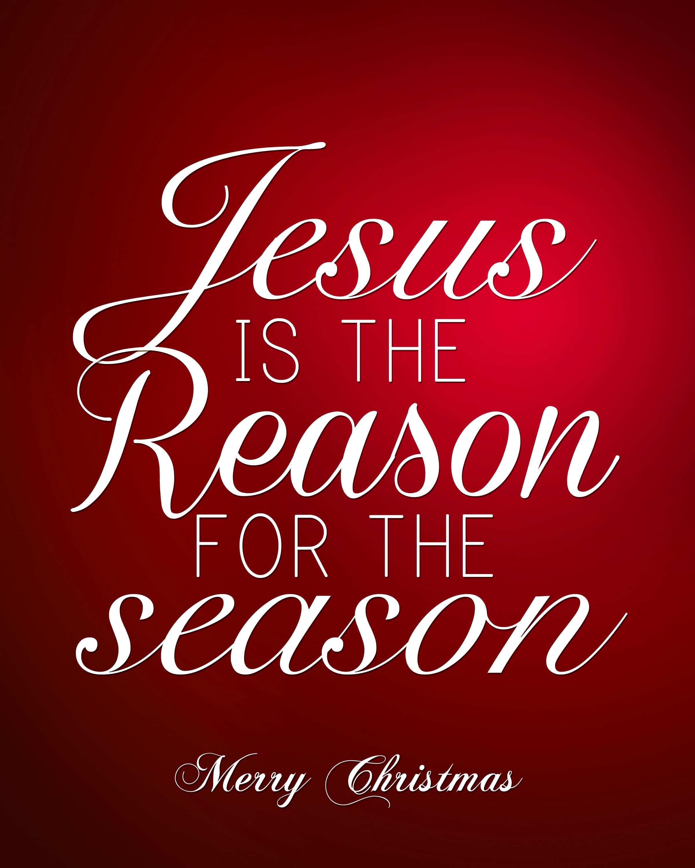 Jesus Is The Reason For The Season Free Christmas