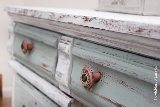 Distressed Chalk Paint Desk Makeover  How to Nest for Less