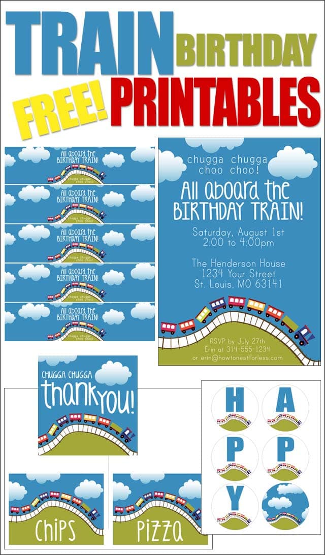 Train Themed Birthday Party With Free Printables