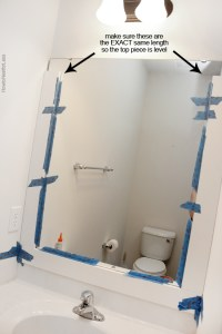 How to Frame a Bathroom Mirror - How to Nest for Less