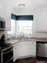 DIY Kitchen Window Cornices - How to Nest for Less