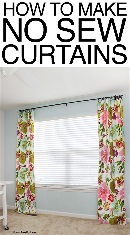 How To Make No Sew Curtains How To Nest For Less™