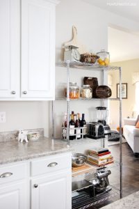 Kitchen Industrial Shelving - How to Nest for Less
