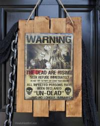 Zombie Apocalypse Sign + Halloween Front Porch - How to ...
