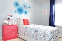 Blue and Coral Kids Bedroom - How to Nest for Less