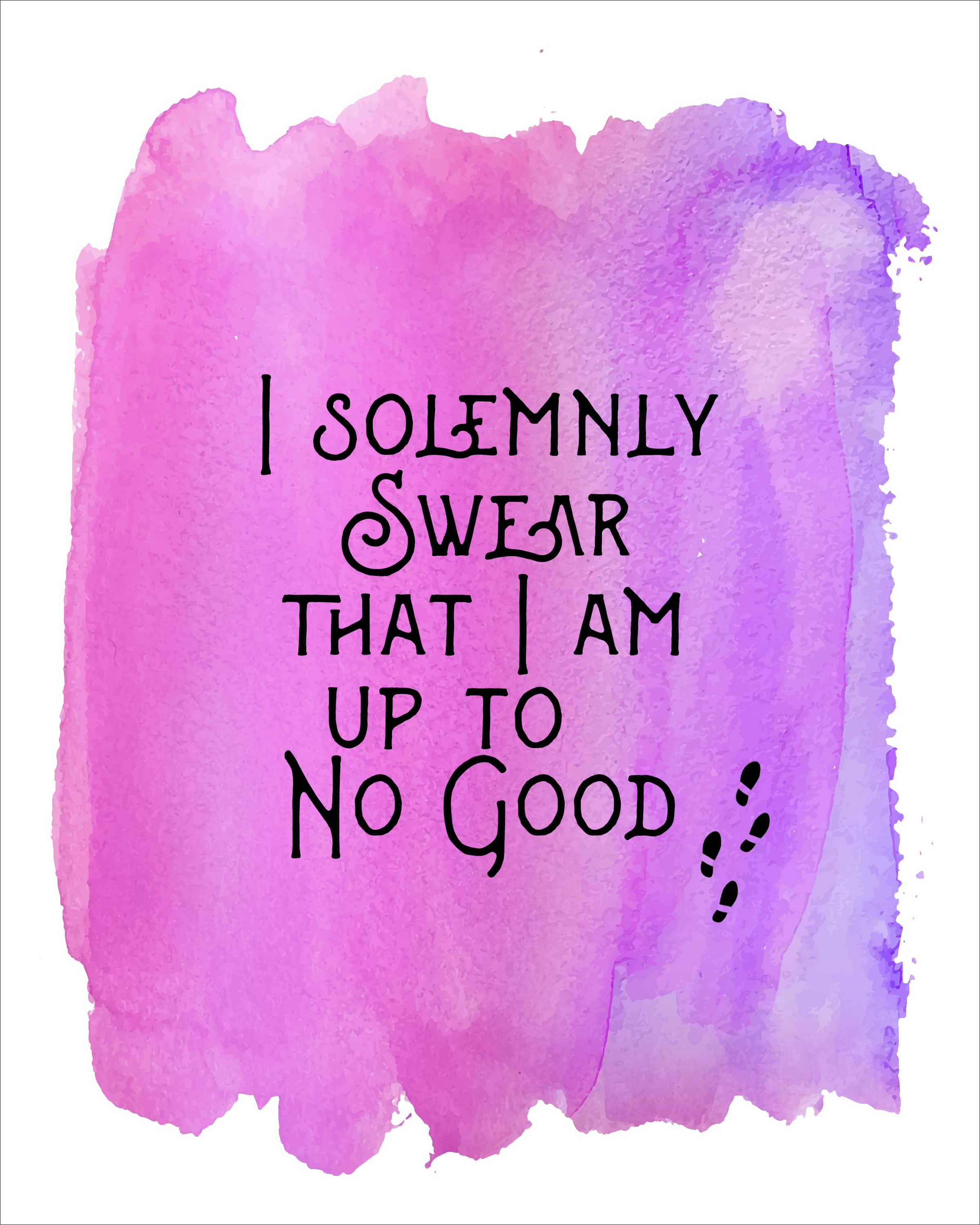 Harry Potter Watercolor Quote Printables