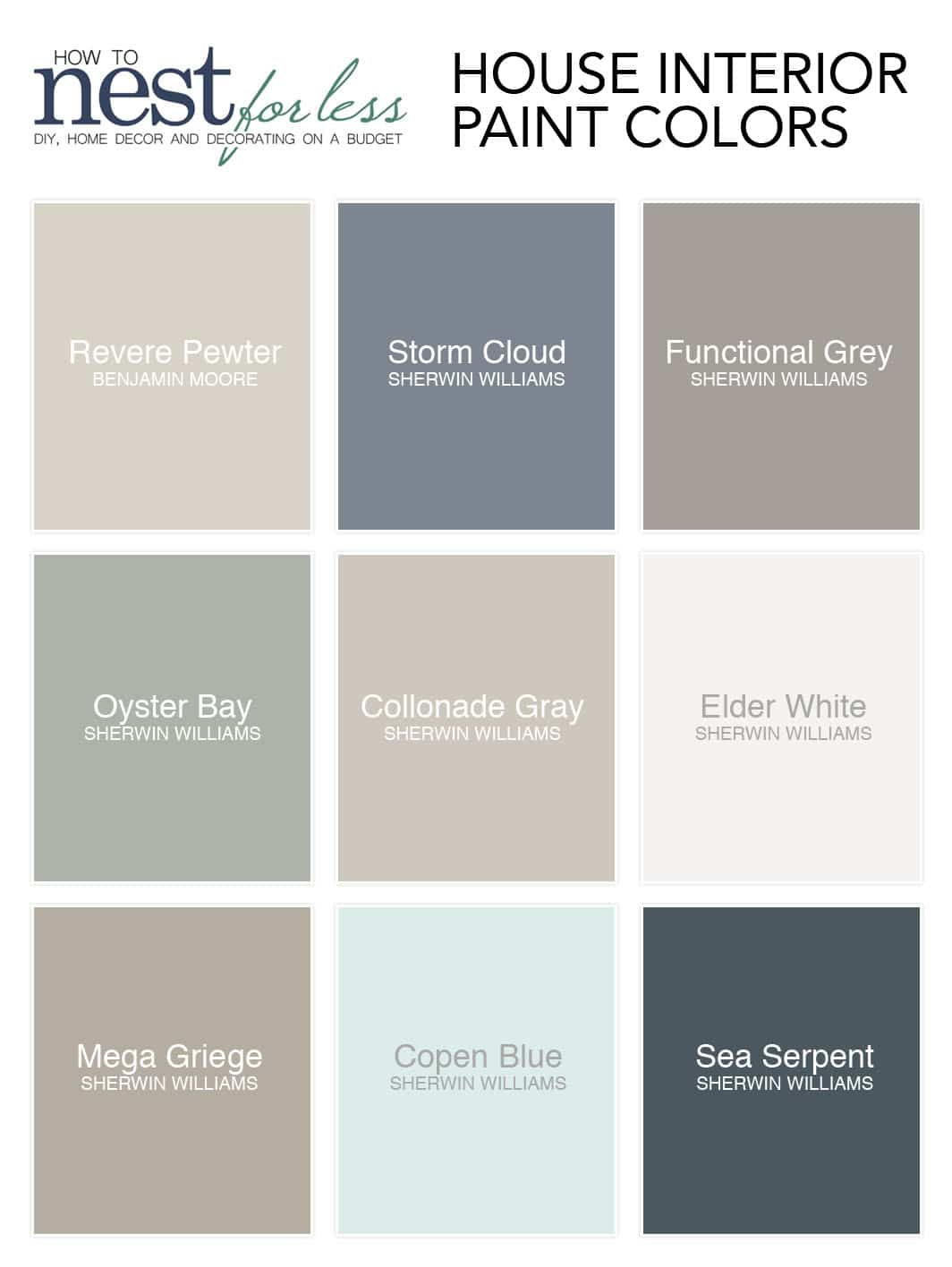 Sherwin Williams Whole House Color Palette 2020 Novocom Top