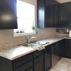 Kitchen Backslash Home Depot Sink Faucets Faux Stone Backsplash How To Nest For Less So Here S What Her Looks Like Now
