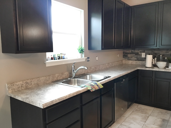 kitchen back splash free standing cabinets faux stone backsplash how to nest for less let me also note that this stuff was super easy work with i just measured cut it scissors peeled off the and stuck on wall
