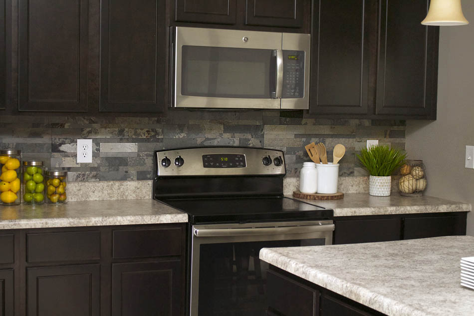 stone kitchen backsplash vulcan equipment faux how to nest for less so here s what her looks like now