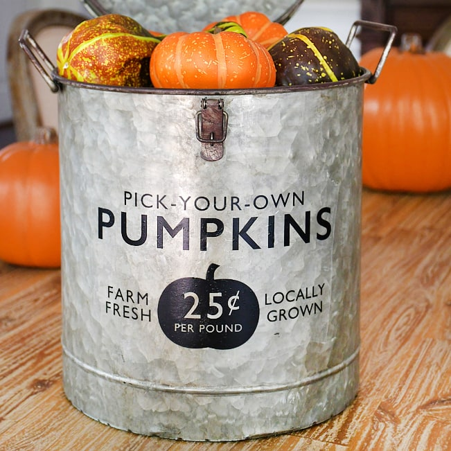 Fall Farmhouse Pumpkin Bucket Easy DIY And Craft Project