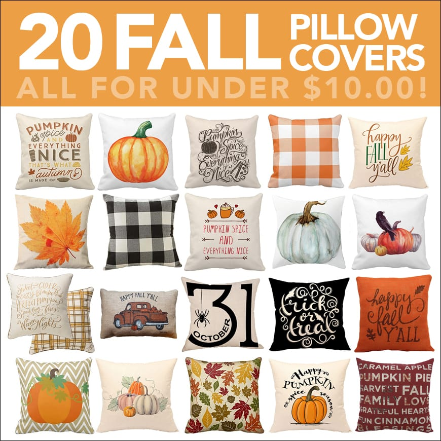 20 Fall Pillow Covers for Under 10  How to Nest for Less