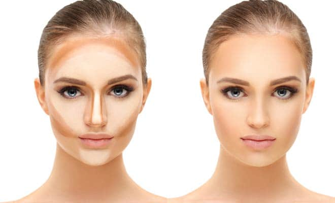 Contour and highlight makeup