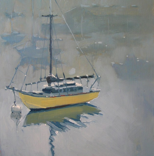 Painting on a Gray Day
