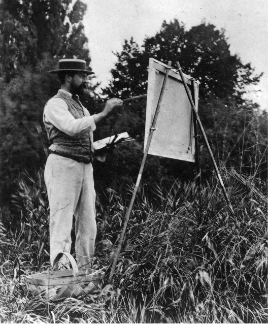 John Singer Sargent plein air painting large on location