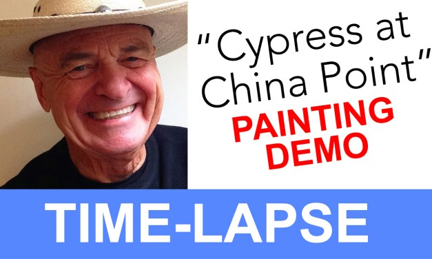 "Plein Air Painting Time-lapse of ""Cypress with China Point"""