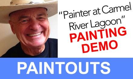 Painter at Carmel River Lagoon