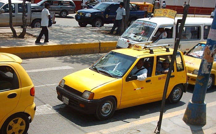 Taxis in Chiclayo, Peru