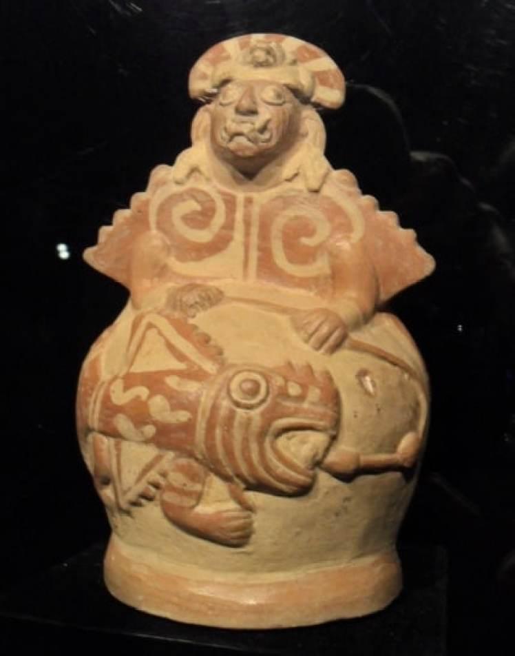 Moche ceramic fisherman