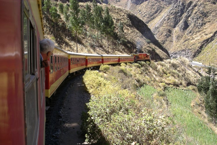Ferrocarril Central Andino train from Lima to Huancayo