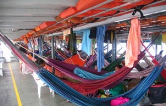 Lima to Iquitos by Boat - Inside Of Boat
