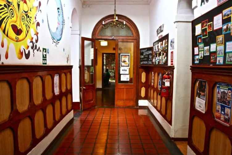 Best Hostels Lima - hallway of the point hostel in lima