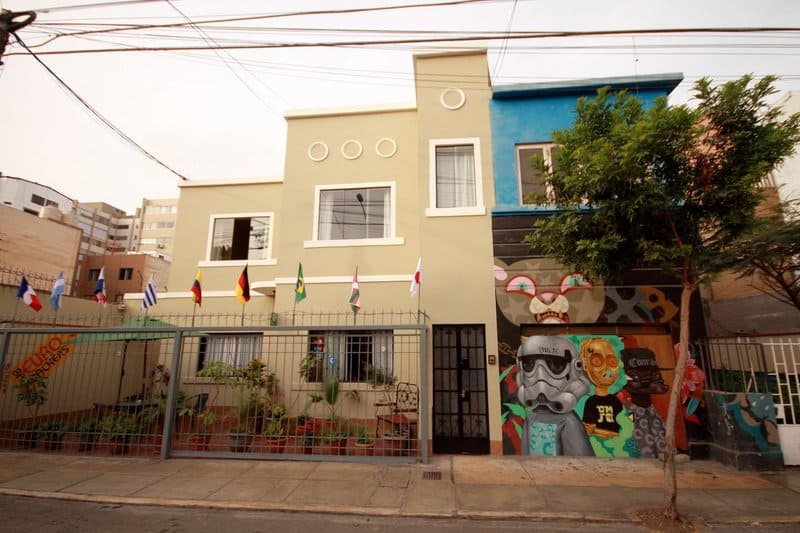 Best Hostels Lima - Eurobackpackers hostel from the outside