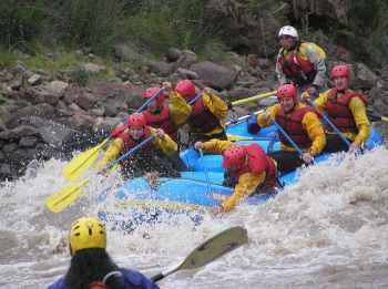 Whitewater Rafting in Peru on the inca jungle trek