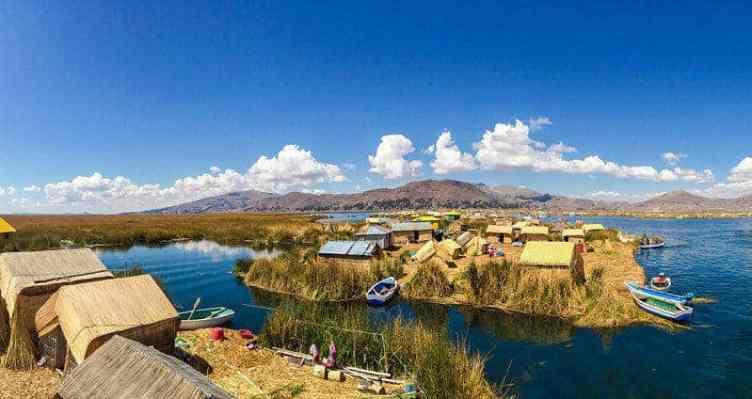 Lake Titicaca Peru Uros Floating Islands