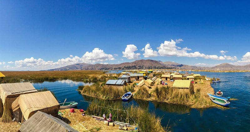 Lake Titicaca Peru Uros Floating Islands