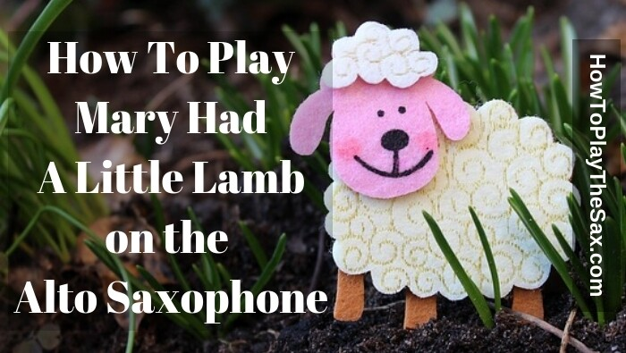 How to play Mary Had A Little Lamb on the Alto Saxophone