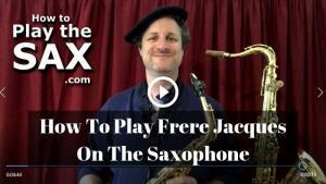 Frere Jacques Saxophone