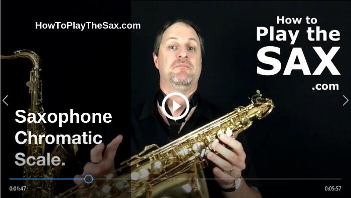 Saxophone Chromatic Scale - Alto saxophone Scales