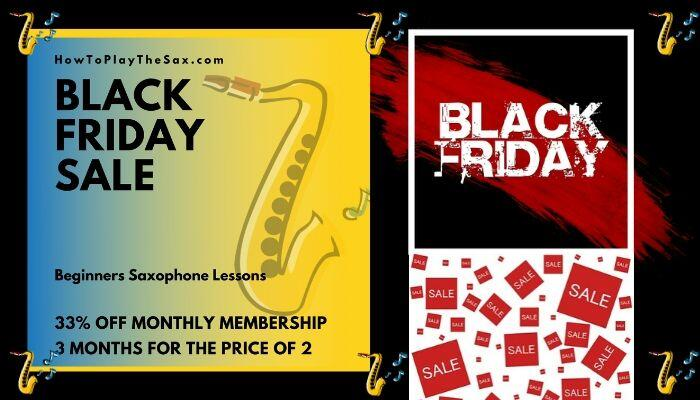 Saxophone Lessons Black Friday SALE
