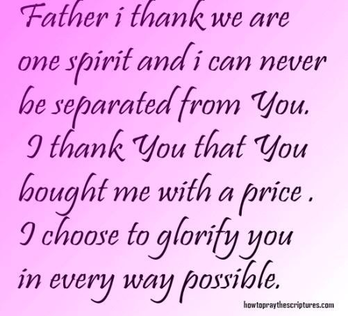 father I thank you