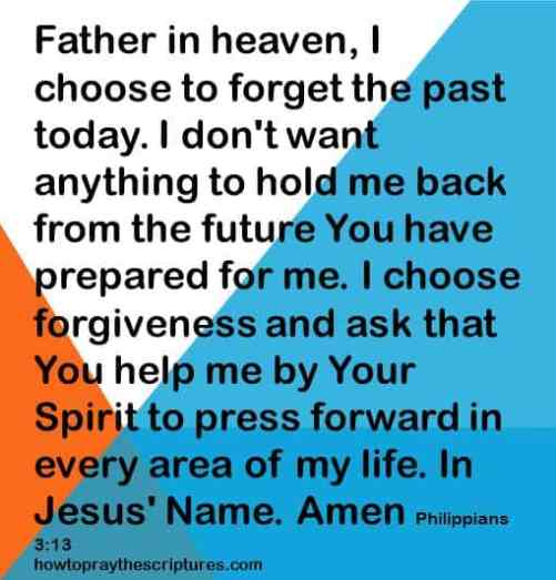 I choose to forget the past today philipians 3-13