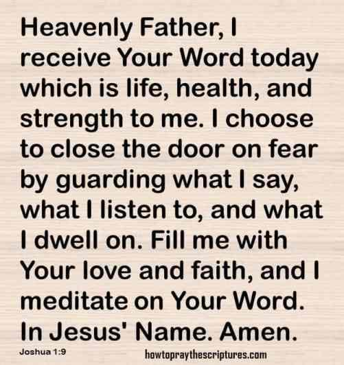 how to pray joshua 1-9