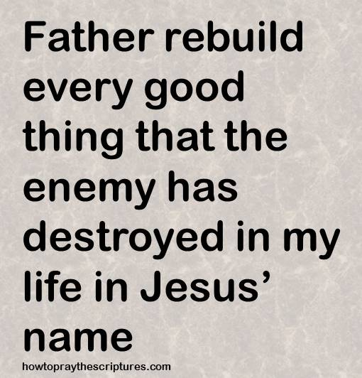 Father Rebuild Every Good Thing