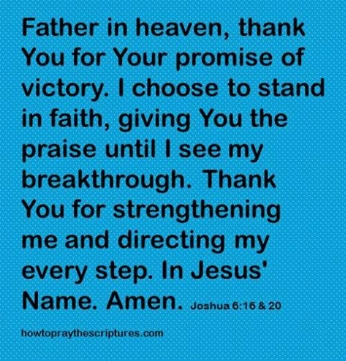 thank you for the promise of victory joshua 6-16