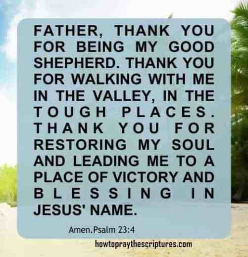 How To Pray Psalm 23:4