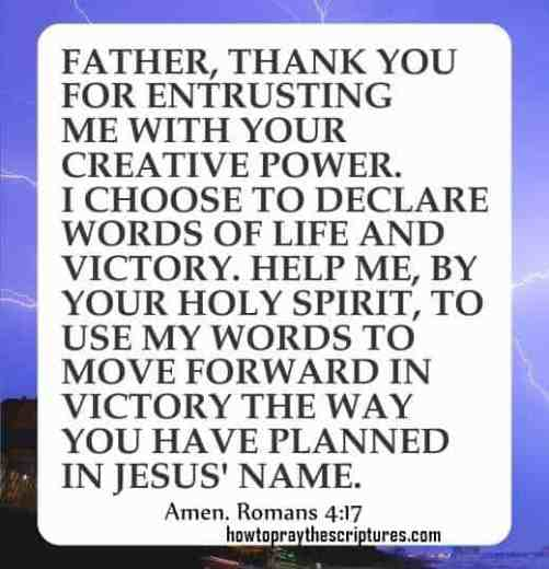 How To Pray Romans 4:17