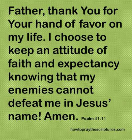 father thank you for favor psalm 41-11