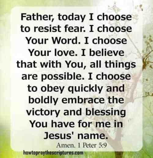 How To Pray 1 Peter 5 vs 9