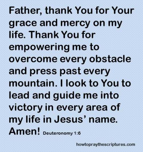 thank you for your grace deuteronomy 1-6